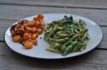 Spring pasta and carrot mash