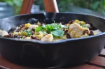 Yucatan chicken in a skillet