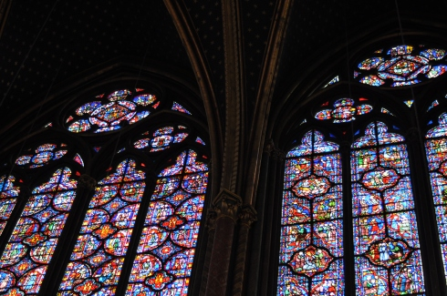 Stained glass in the Sainte-Chapelle