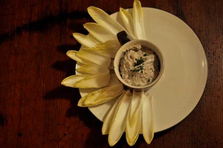 endive and walnut blue cheese dip