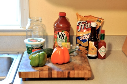 ingredients for easy gazpacho